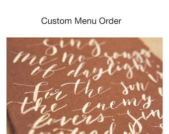 Custom Menu Order (36 Menus)