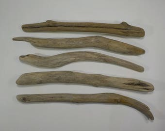 5 Driftwood Sticks 11.8-12.6''/30-32cm, Sturdy Driftwood Branches,Macrame Sticks,Art Supplies, Decorative Driftwood #44S
