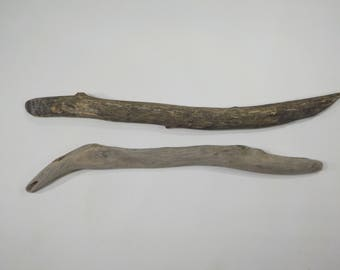2 Sturdy Driftwood Sticks 17.3-19.3''/44-49cm,Thick Driftwood Sticks,Beautiful Shaped Drift Wood, Woven Wall Hanging, Macramé Driftwood#60S