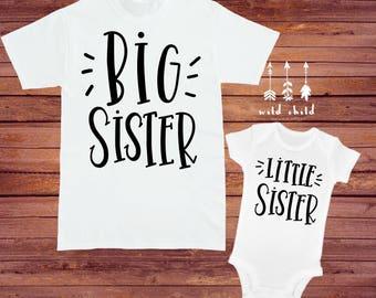 Big Sister Little Sister Shirt Set, Sister Shirts, Matching Outfits, Big Sis Lil Sis, Big Sister Shirt, Little Sister Shirt, Sisters Shirts