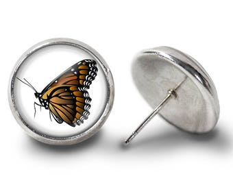 Monarch Butterfly Earrings - Monarch Earrings - Butterfly Jewelry for Her (Pair) Lifetime Guarantee (E0553)