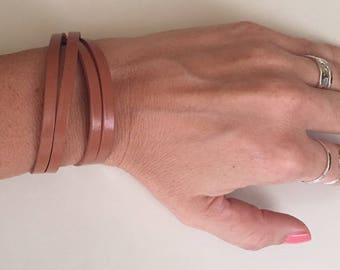 Women's leather bracelet Wrap bracelet Bohemian jewelry Boho bracelet Fashion jewelry Leather bracelet  Double wrap bracelet