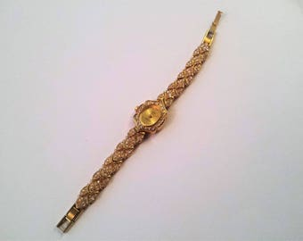 Vintage Futura Ladies Watch, Futura 3010 Watch, Women's Gold Tone Watch, Women's Rhinestone Watch, Women's Watches, Jewelry, Vintage Gifts