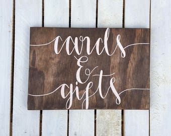 Rustic Wooden Wedding Cards and Gifts Sign