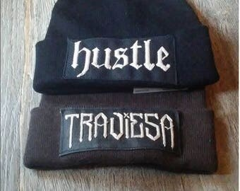 CUSTOM Patched Beanie(see description for details)