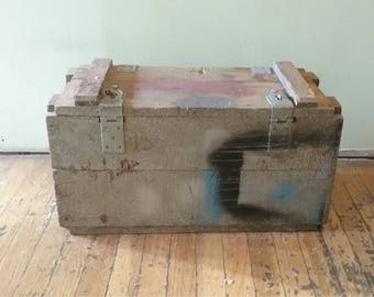 Vintage Ammo Crate, Vintage Wooden Box, Vintage Wood Box, Old Storage Crate, Wooden Ammo Box, Distressed Wooden Box, Vintage Wooden Crate,