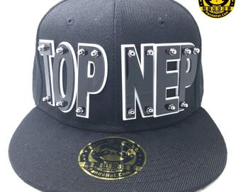 TOP NEP Acrylic Letter Snapback Hat
