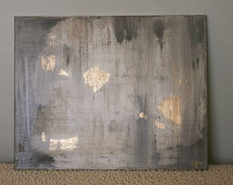 Gray & Raw Umber Abstract Painting