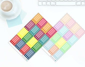 16 Multi-coloured Bright OR Pastel Meal Planner Stickers for Erin Condren LifePlanner
