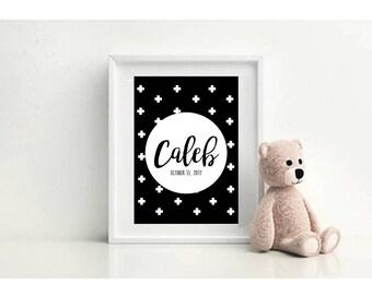 Personalised Name Prints / Nursery Wall Art / Baby Boy / Girl / Custom