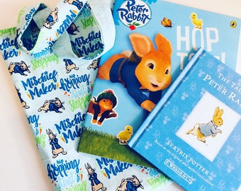 Peter Rabbit Hand Made Book Tote Including Books / Book Bag / Book Tote / Beatrix Potter