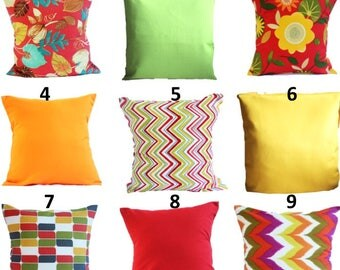 SALE OUTDOOR Pillow Covers Orange Pillow Cases, Yellow Pillow, Red Pillow,  Pillows Decorative