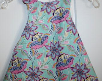 Little Green with Flowers Reversible Sundress.
