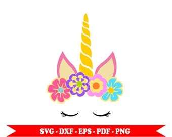 Unicorn head svg, svg, Golden, clip art, png, pdf, eps, dxf. For Silhouette Cameo, Cricut vinyl, embroidery, Space, decal