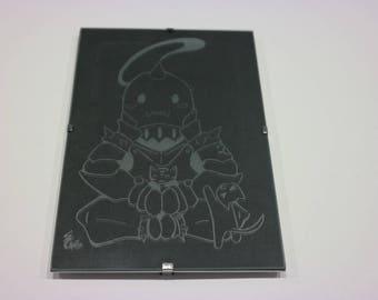 Engraved frame with black background Fullmetal Alchemist - Alphonse