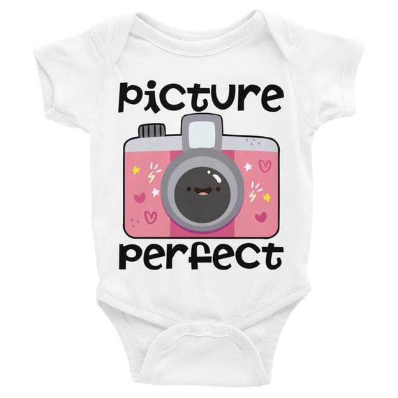Picture Perfect Cute Infant Bodysuit | Funny baby onesie | Cute baby onesie | Baby onesie Newborn Uutfit  Funny onesie  Baby bodysuit