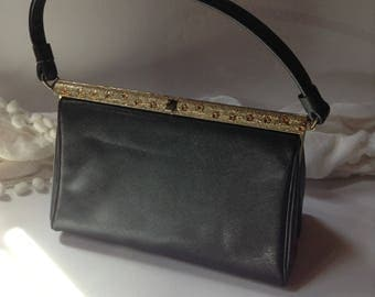 Lovely Vintage Handbag / Top Handle Purse by After Five / Mad Men Style