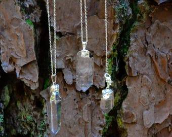 Clear Quartz Point Necklace~For Spiritual Growth