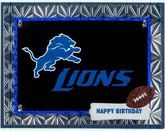 Detroit Lions Birthday Card
