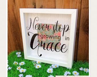 Grace Bible Scripture Box Frame