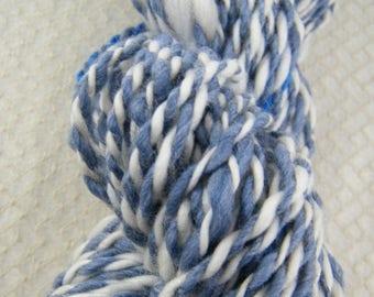 Handspun Yarn - DK Weight - Blues and White - Merino - Handmade - Canadian #806