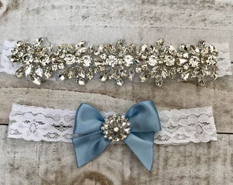 Wedding Garter set, NO SLIP grip Lace Wedding Garter Set, bridal garter set, vintage rhinestones, pearl and rhinestone gar