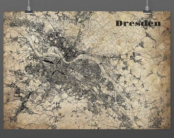 Dresden DIN A4 / DIN A3 - print - turquoise