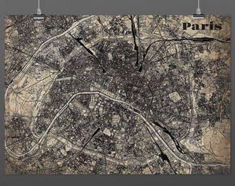 Paris din a4/din A3-Print-Vintagestyle