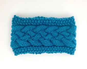 Knit Ear Warmer, Ear Warmer for Women, Winter Ear Warmer, Knit Wool Headband, Womens Knit Headband, Blue Ear Warmer, Ear Warmer Headband