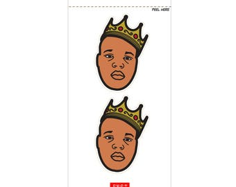 2 Notorious B.I.G. Peel-away Sticker
