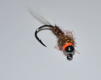 3 Jig Style Pheasant Tail Nymphs. Trout Flies. Fly Fishing. Flies. Homemade.