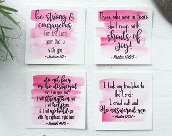 Dry brush Bible Verse Cards - Set of 4