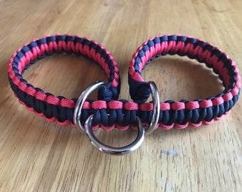 Large Red and Black Slip Cuffs