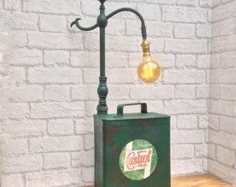 Vintage Industrial Lamp, Vintage Decor, Industrial Decor, Industrial Lighting, Vintage Oil Can, Mechanic Gift, Industrial Style, Urban Decor