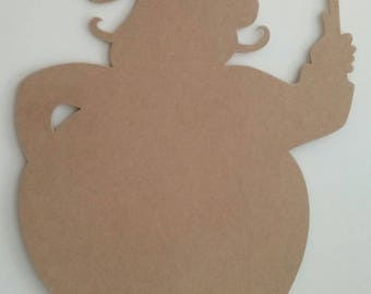 Cook silhouette wood scalloped paint medium