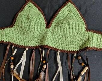 Beaded crochet top
