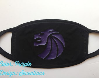 Custom Black Rave Mouth Mask