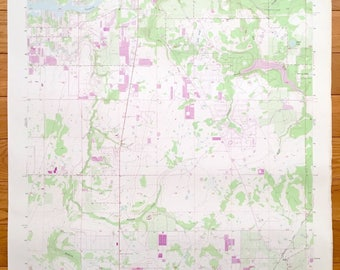Antique Riverview Florida 1956 Us Geological Survey Topographic Map Tampa Balm Pleasant