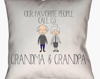 Grandparent pillow, Grandma pillow, Grandpa pillow, grandparent quote, grandparent gift, grandparent presents, pillows, throw pillows