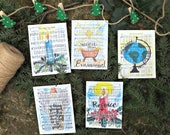 Christmas Hymns Set of 5 Watercolor Art | Bible Journaling Cards | Christmas Decorations | Hymnal Art | Twine Banner | Silent Night
