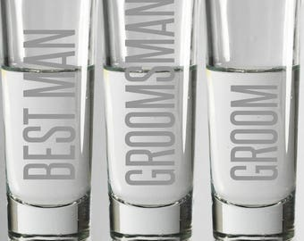 custom laser engrave tall shot glasses etched shot glass wedding glasses groomsmen glasses