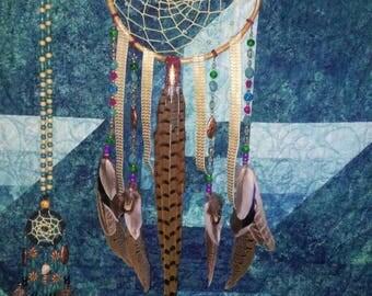 Dream Catcher- Dreamcatcher- Decor- Boho Decor- Wall Decor- Home Decor- Housewarming Gift- Gift- Large Dream Catcher- Pheasant Feathers