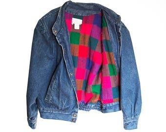 SALE - Denim Flannel Lined Vintage Jacket