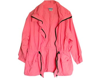 SALE - SIZE SMALL - Vintage Neon Wind Breaker