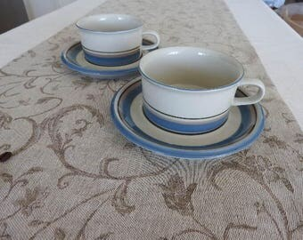Arabia Finland UHTUA tea cup and saucer/designed by Inkeri Leivo