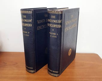 1933 The King's English Encyclopedia, Set of Two Volumes, First Edition