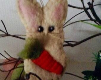 Bunny Needle Felted Wool