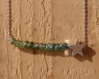 Silver plated Tourmaline necklace