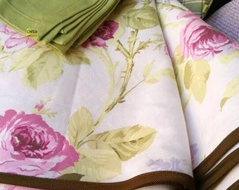 Pure Cotton Flowers Tablecloth, Tablecloth Made In Italy, Spring, Cotton,  Cotton,