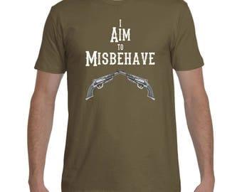 Firefly I Aim To Misbehave - T-Shirt - Sci-Fi Shirt, Mens' Gift, Women's Gift, Geeky Shirt, Nerdy Shirt, Serenity